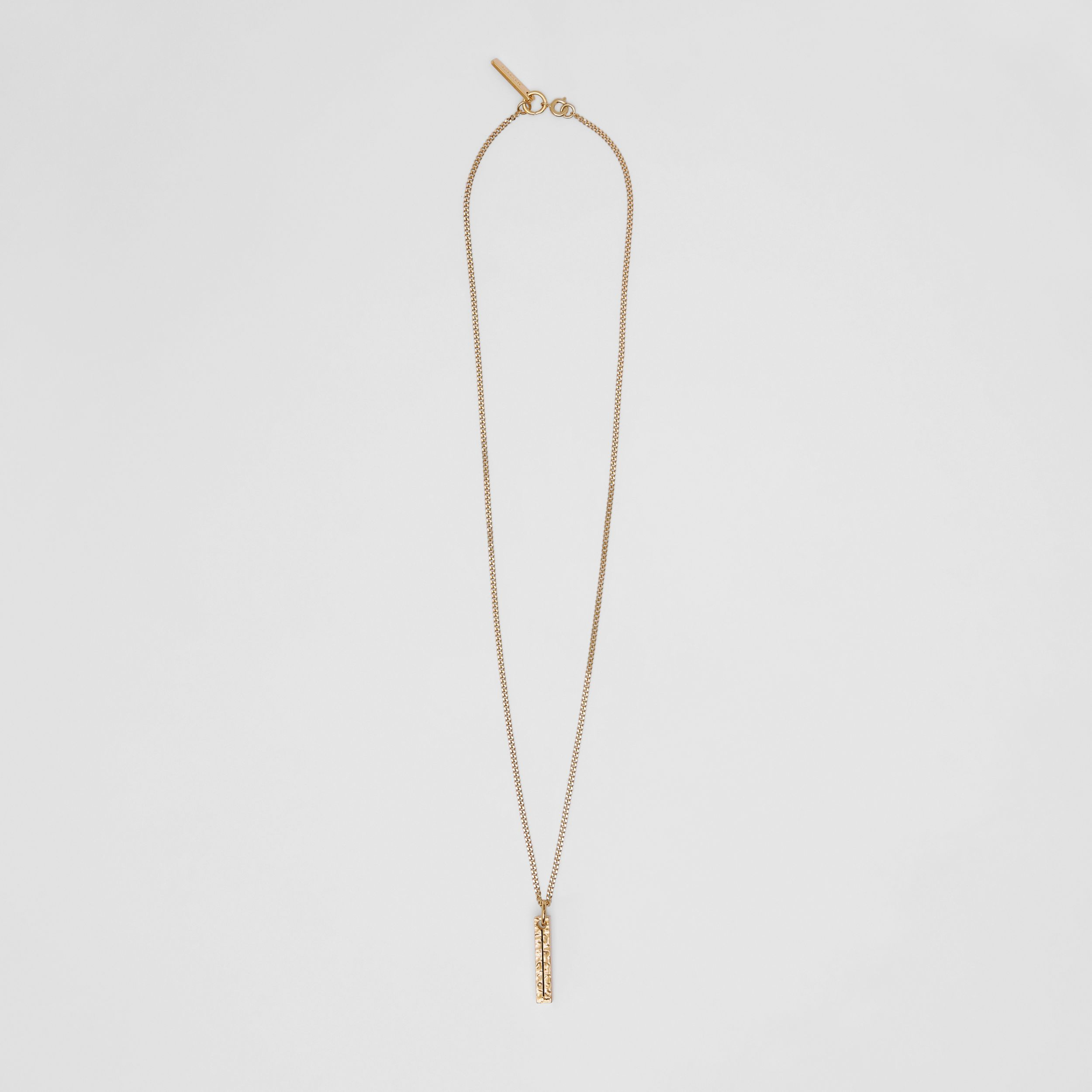 'I' Alphabet Charm Gold-plated Necklace in Light - Women | Burberry Canada - 1