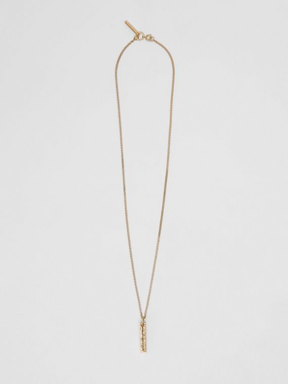 'I' Alphabet Charm Gold-plated Necklace in Light