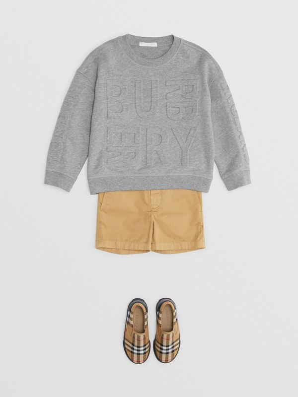 Cotton Chino Shorts in Taupe | Burberry - cell image 2