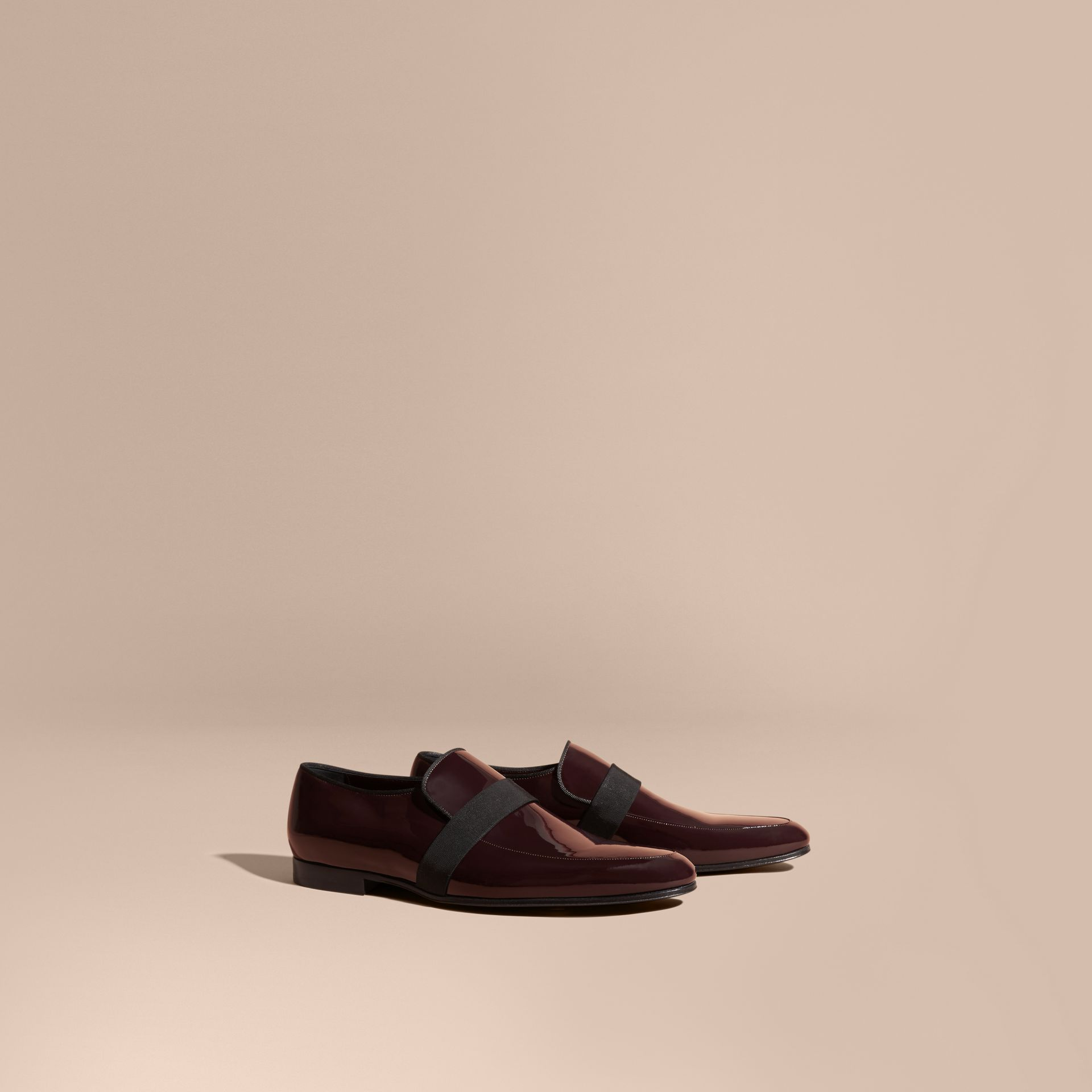 Dark claret Patent Leather Loafers - gallery image 1