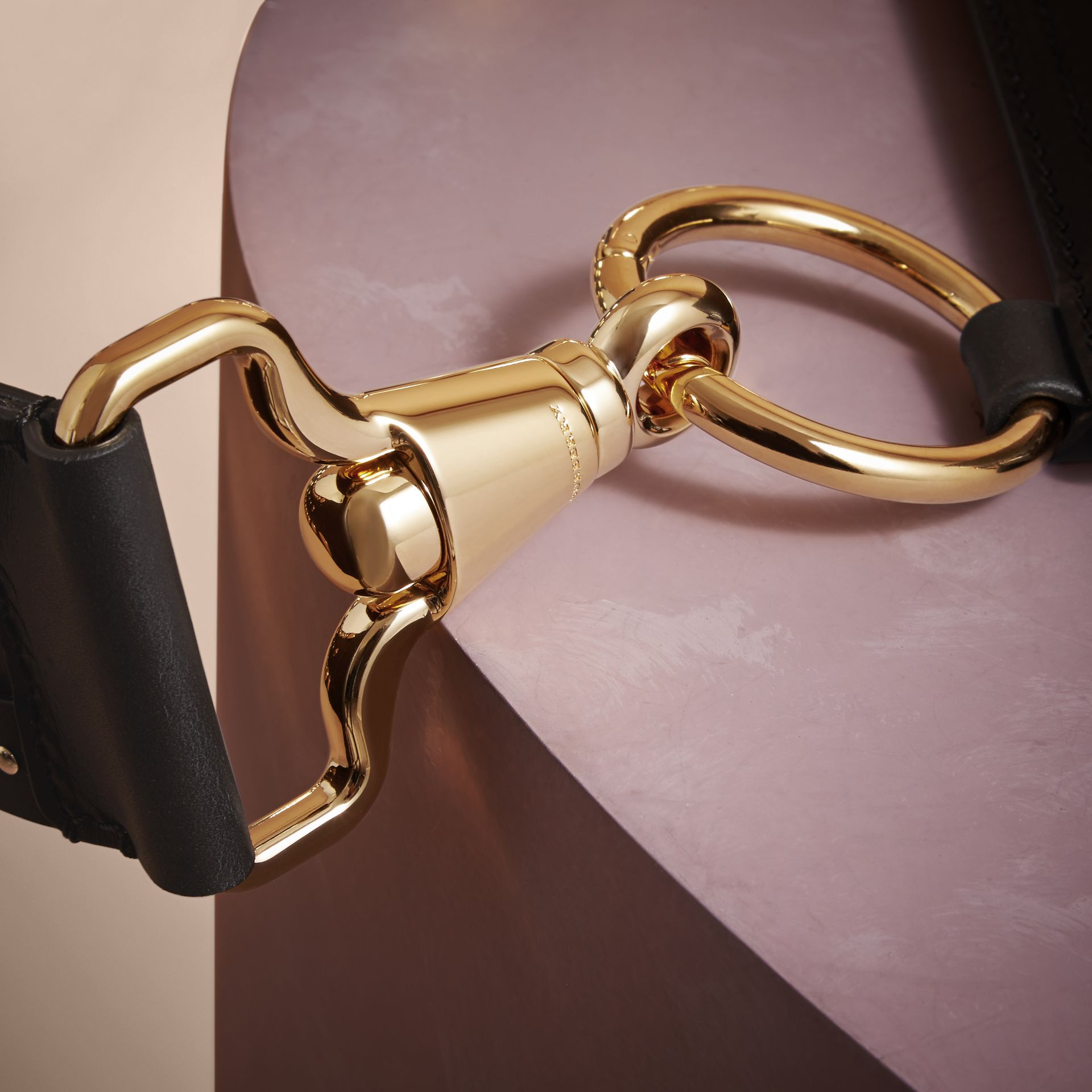 The Bridle Bag in Leather and Calfskin - Women | Burberry - gallery image 6