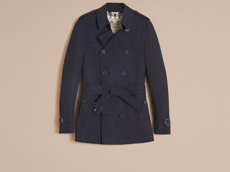 Navy The Chelsea – Short Heritage Trench Coat Navy - cell image 4