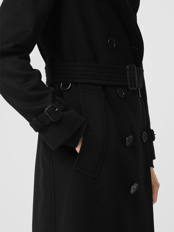 Cashmere Trench Coat in Black - Women | Burberry Canada - cell image 3