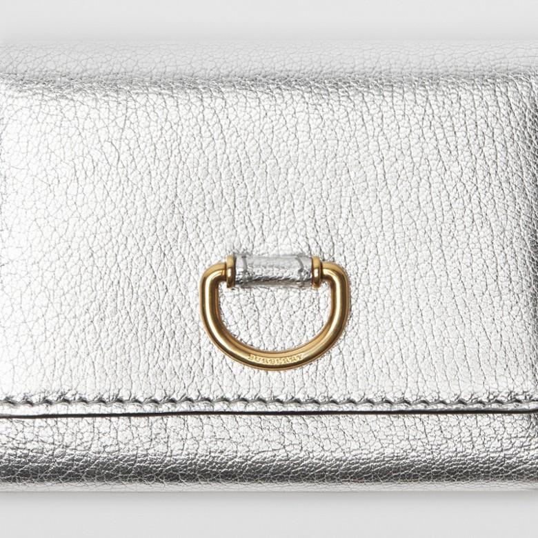 Burberry - Petit portefeuille en cuir métallisé avec boucle en D - 2