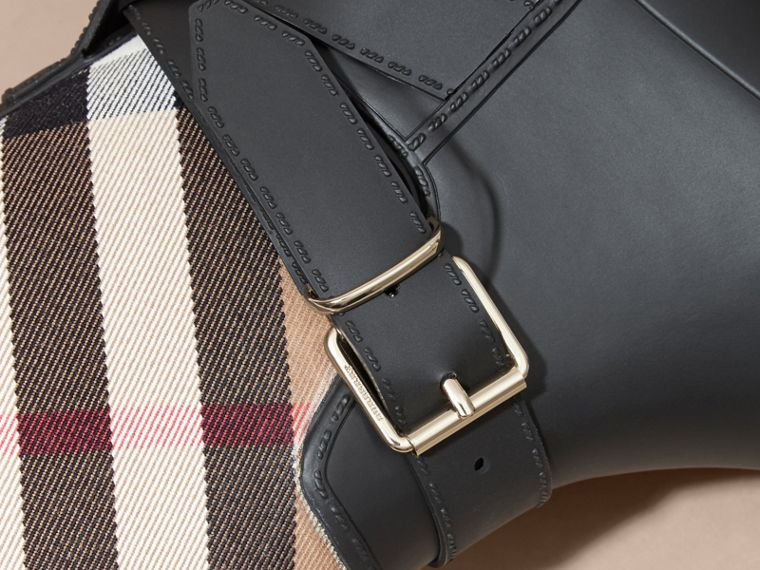 Belt Detail Check and Rubber Rain Boots - Women | Burberry - cell image 1