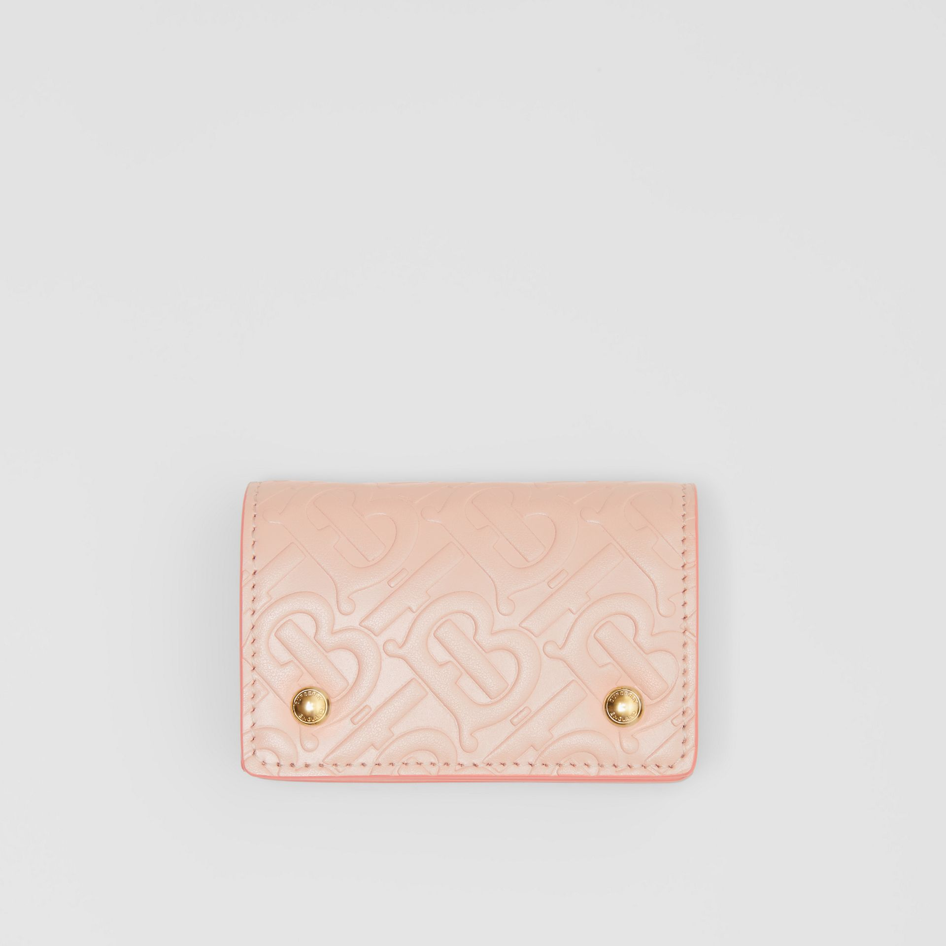 Monogram Leather Card Case in Rose Beige | Burberry United Kingdom - gallery image 0
