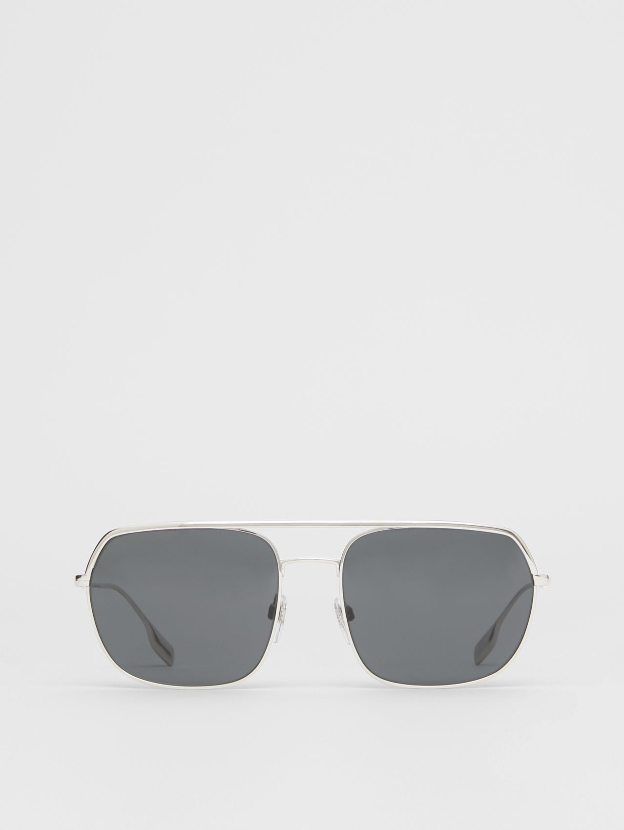 Square Pilot Sunglasses in Silver
