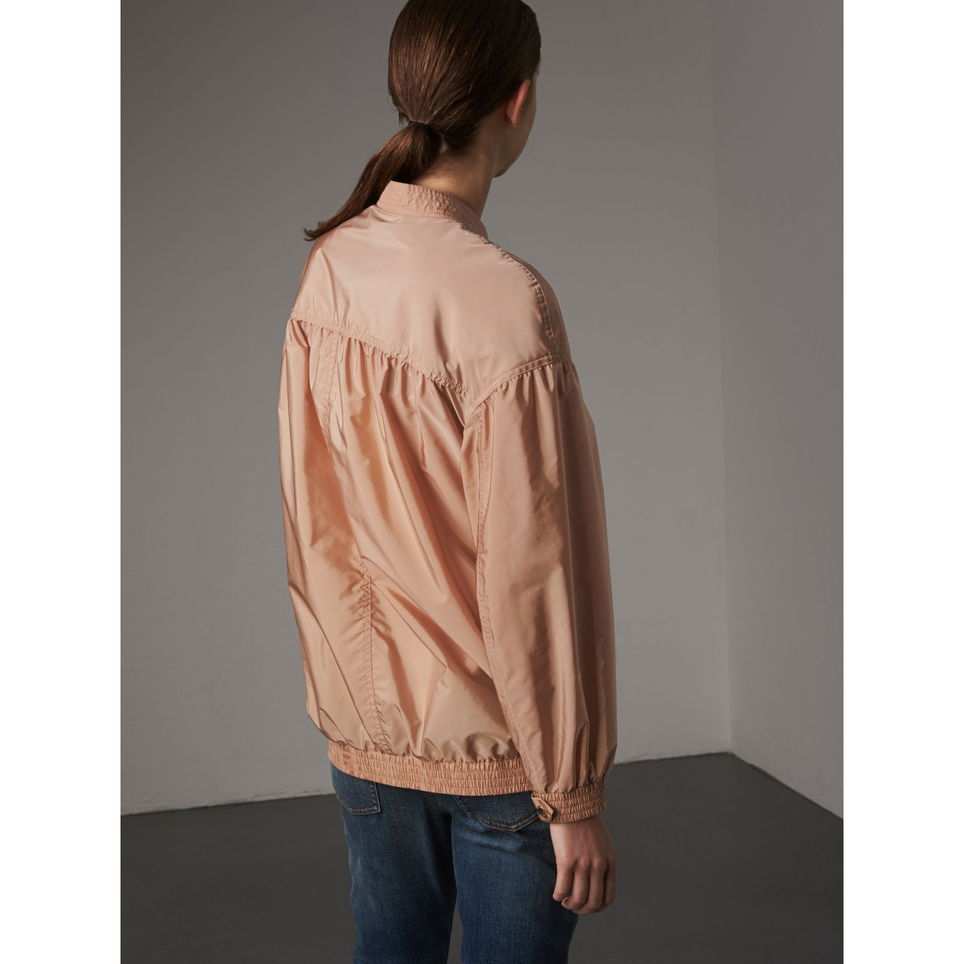 Ruched Showerproof Jacket in Ivory Pink - gallery image 3