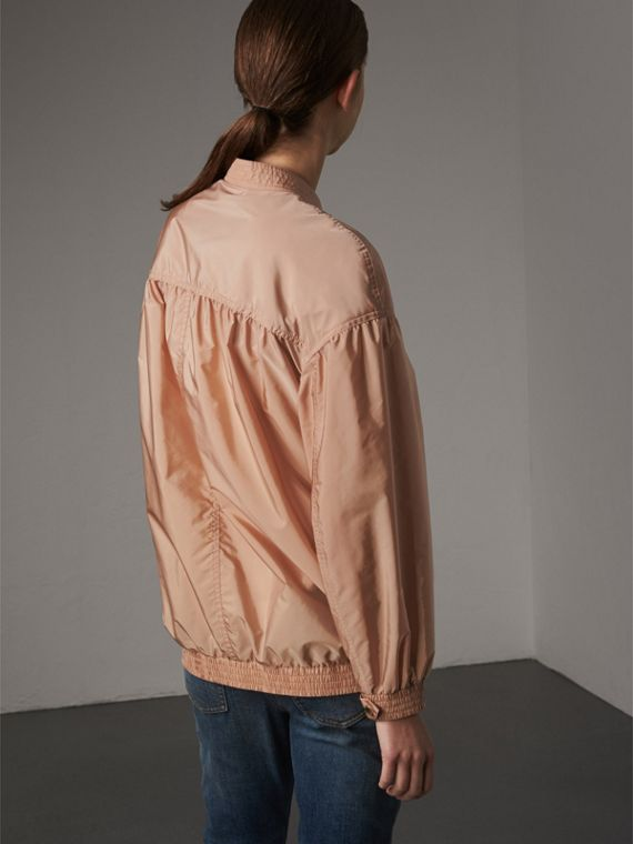 Ruched Showerproof Jacket in Ivory Pink - cell image 2