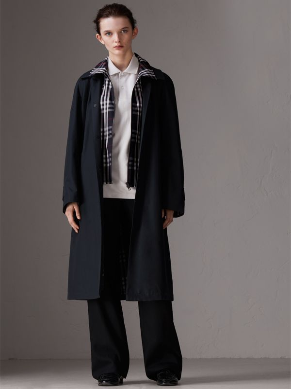 Gosha x Burberry Reconstructed Car Coat in Navy - Men | Burberry - cell image 3