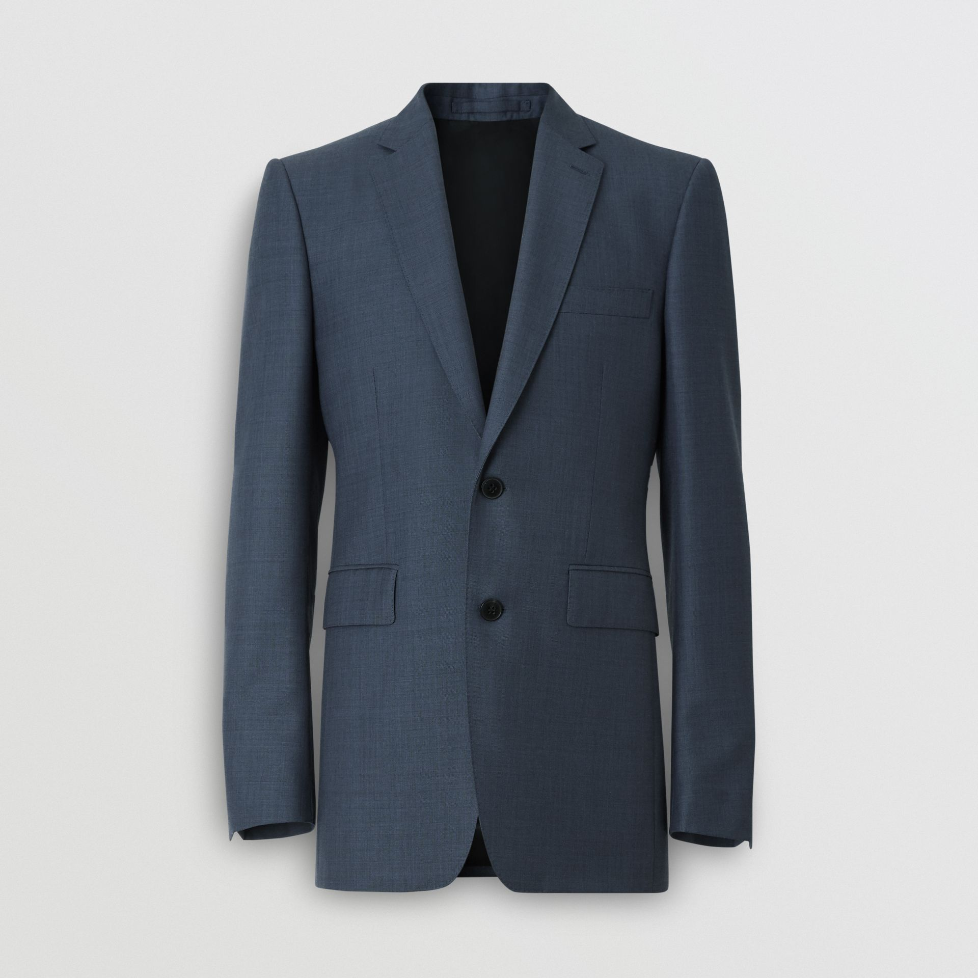 Classic Fit Wool Mohair Silk Suit in Steel Blue - Men | Burberry United Kingdom - gallery image 3