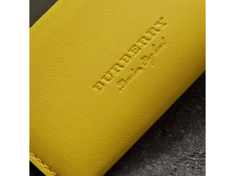 Two-tone Leather Card Case in Bright Larch Yellow - Women | Burberry - cell image 1