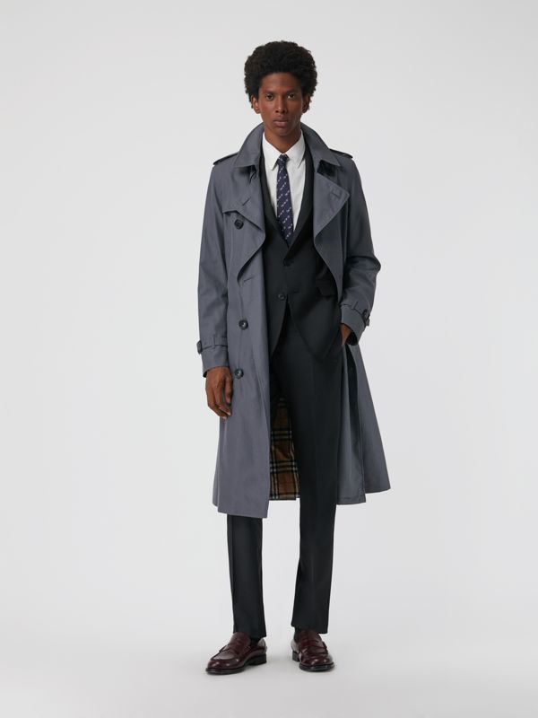 Soho Fit Wool Mohair Suit in Dark Grey Melange - Men | Burberry - cell image 3