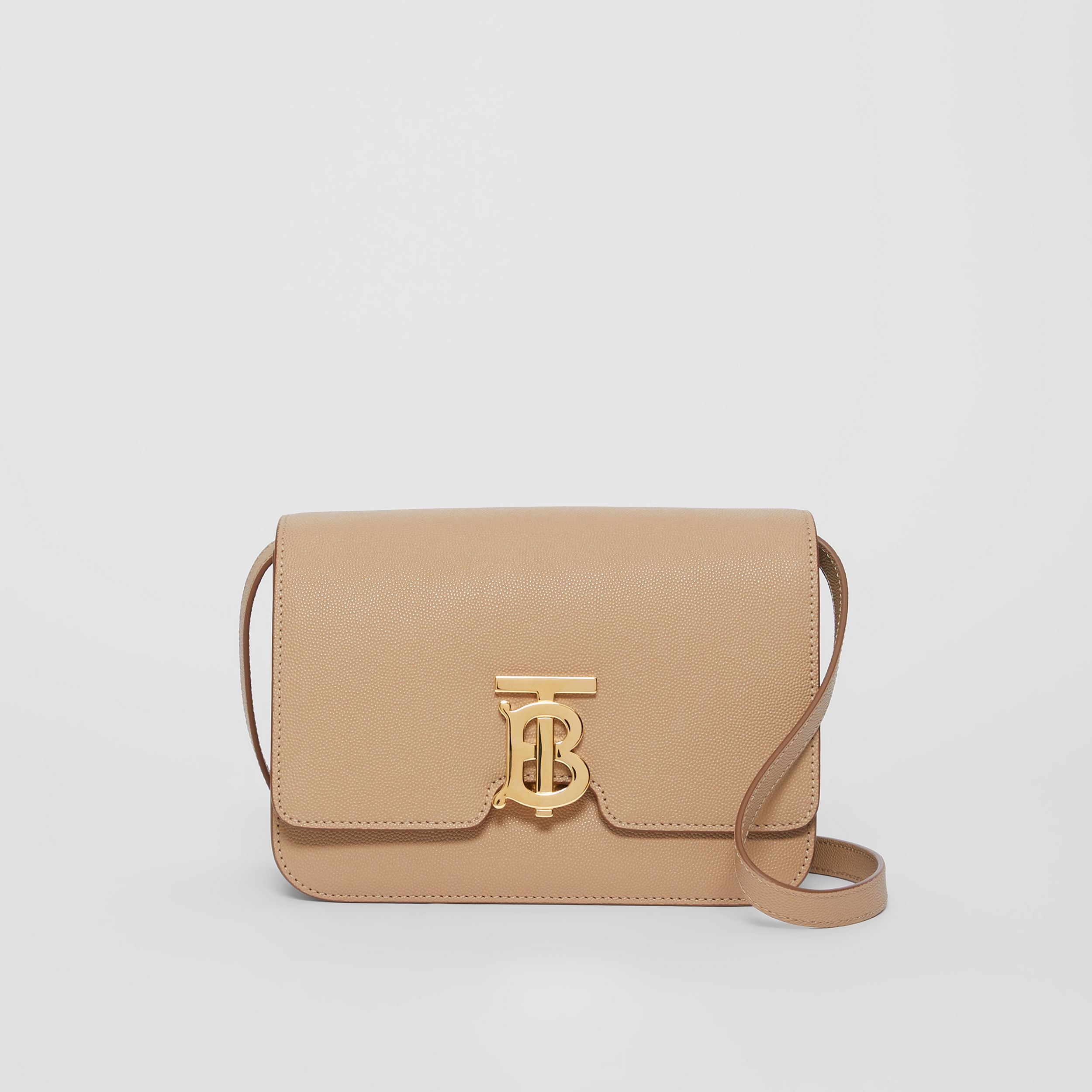 Small Grainy Leather TB Bag in Archive Beige | Burberry - 1
