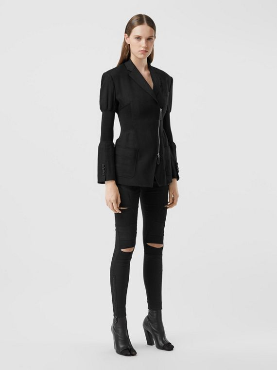 Technical Twill Reconstructed Blazer in Black