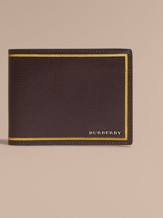 Border Detail London Leather Bifold Wallet in Peppercorn - cell image 2