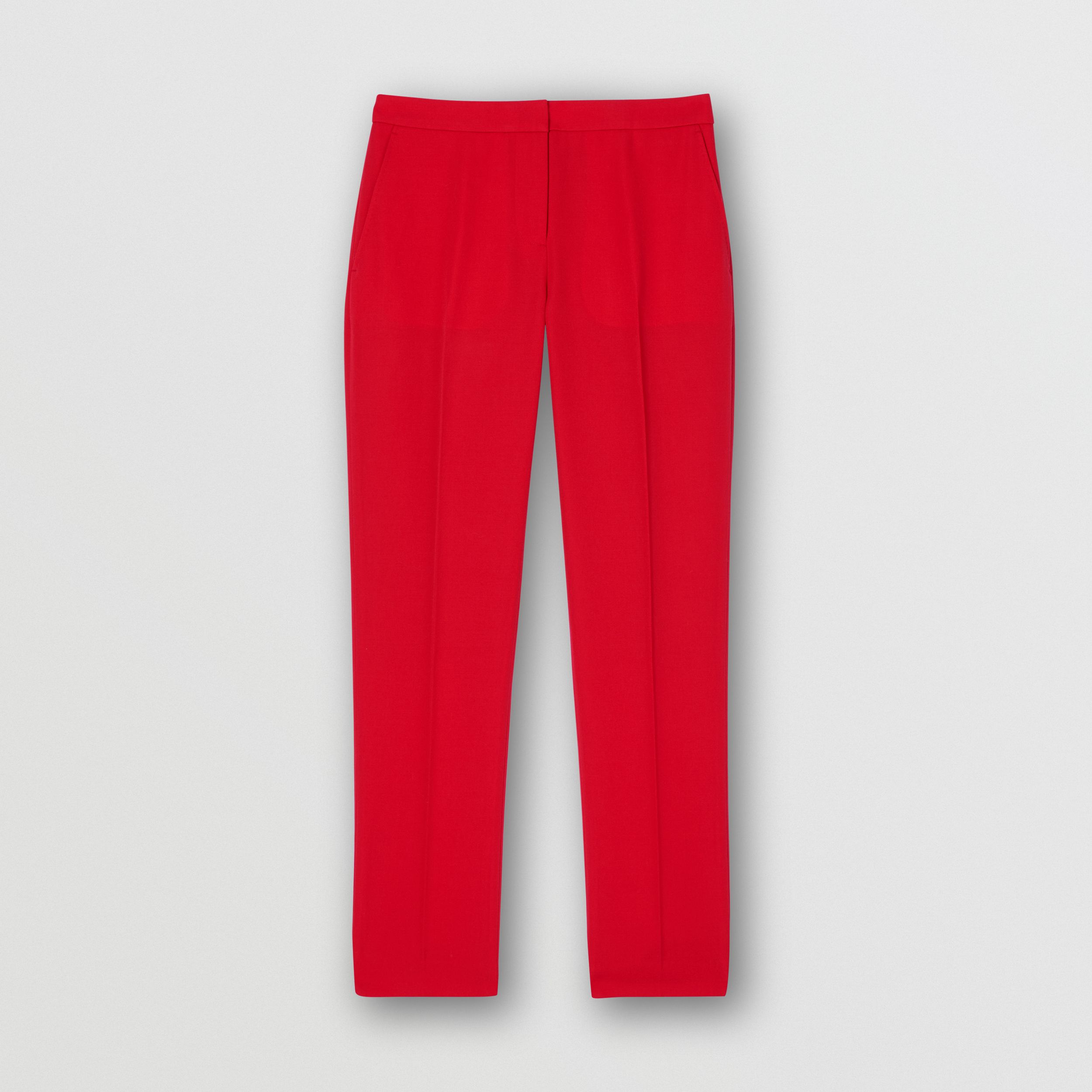 Wool Tailored Trousers in Bright Red - Women | Burberry - 4
