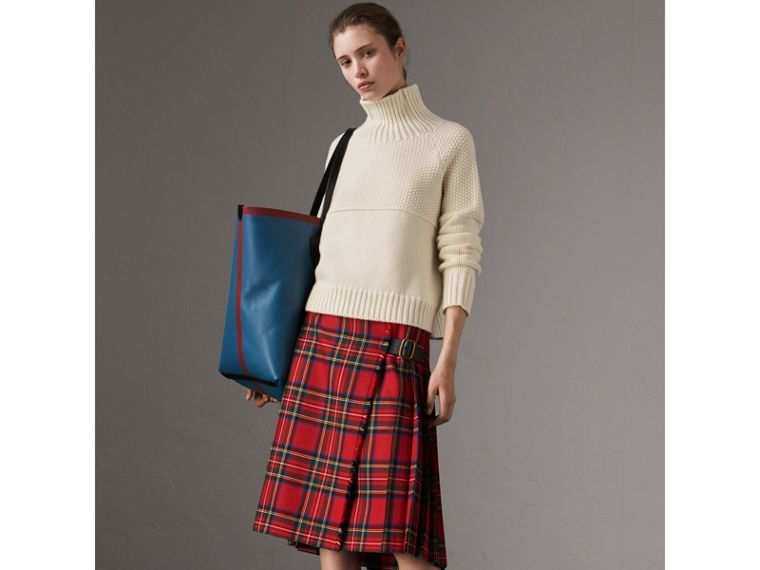Cashmere Roll-neck Sweater in Natural White - Women | Burberry United Kingdom - cell image 4