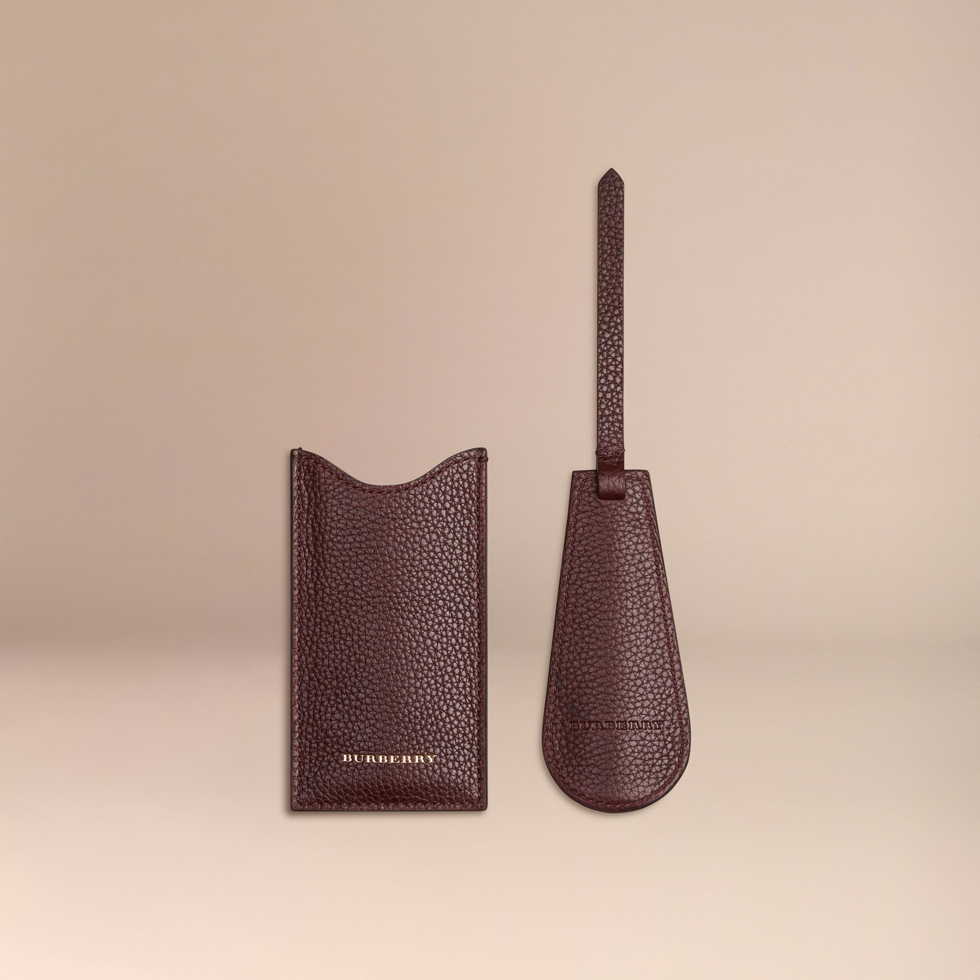 Leather Shoe Horn in Ebony Red - Men | Burberry - gallery image 2