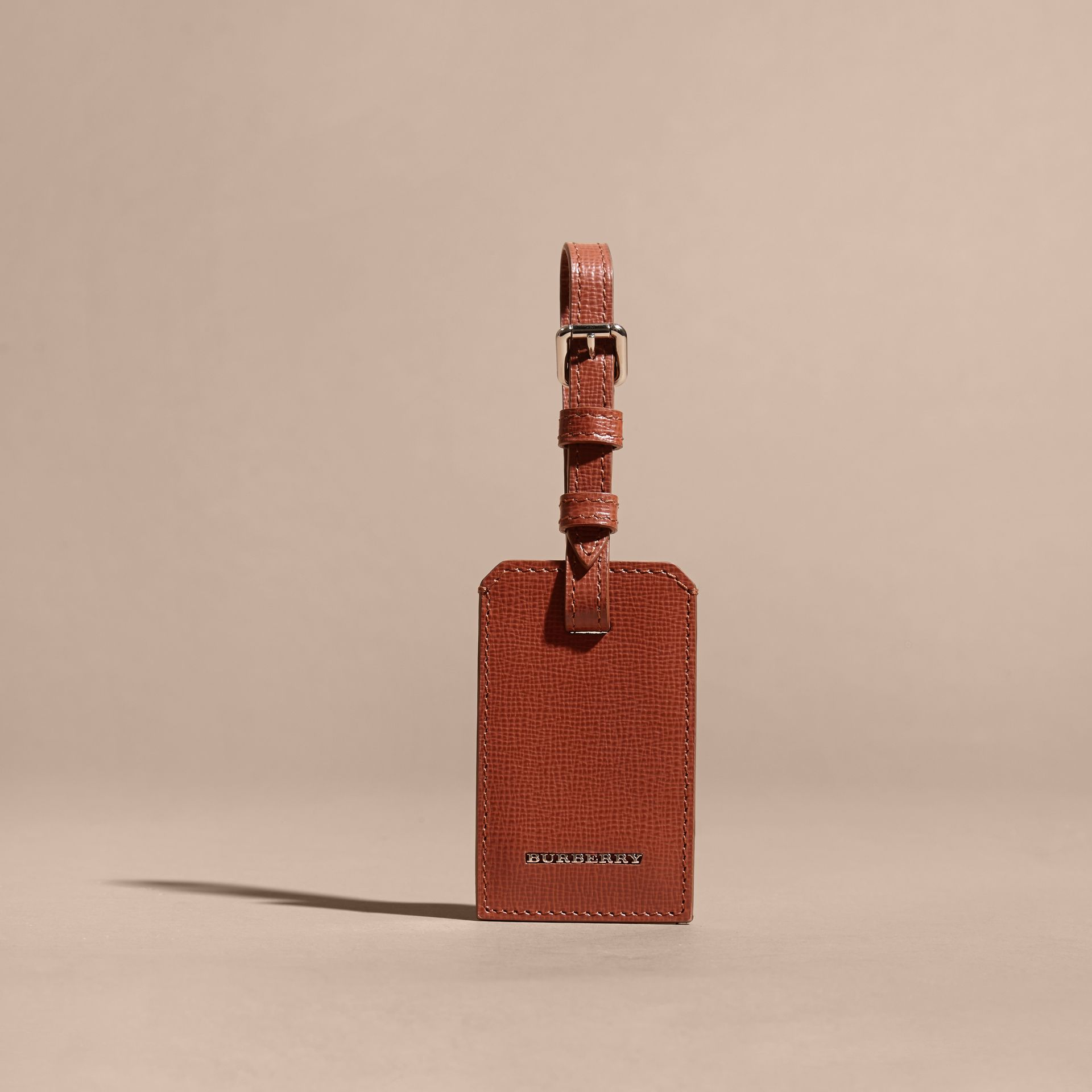 London Leather Luggage Tag Burnt Sienna - gallery image 5