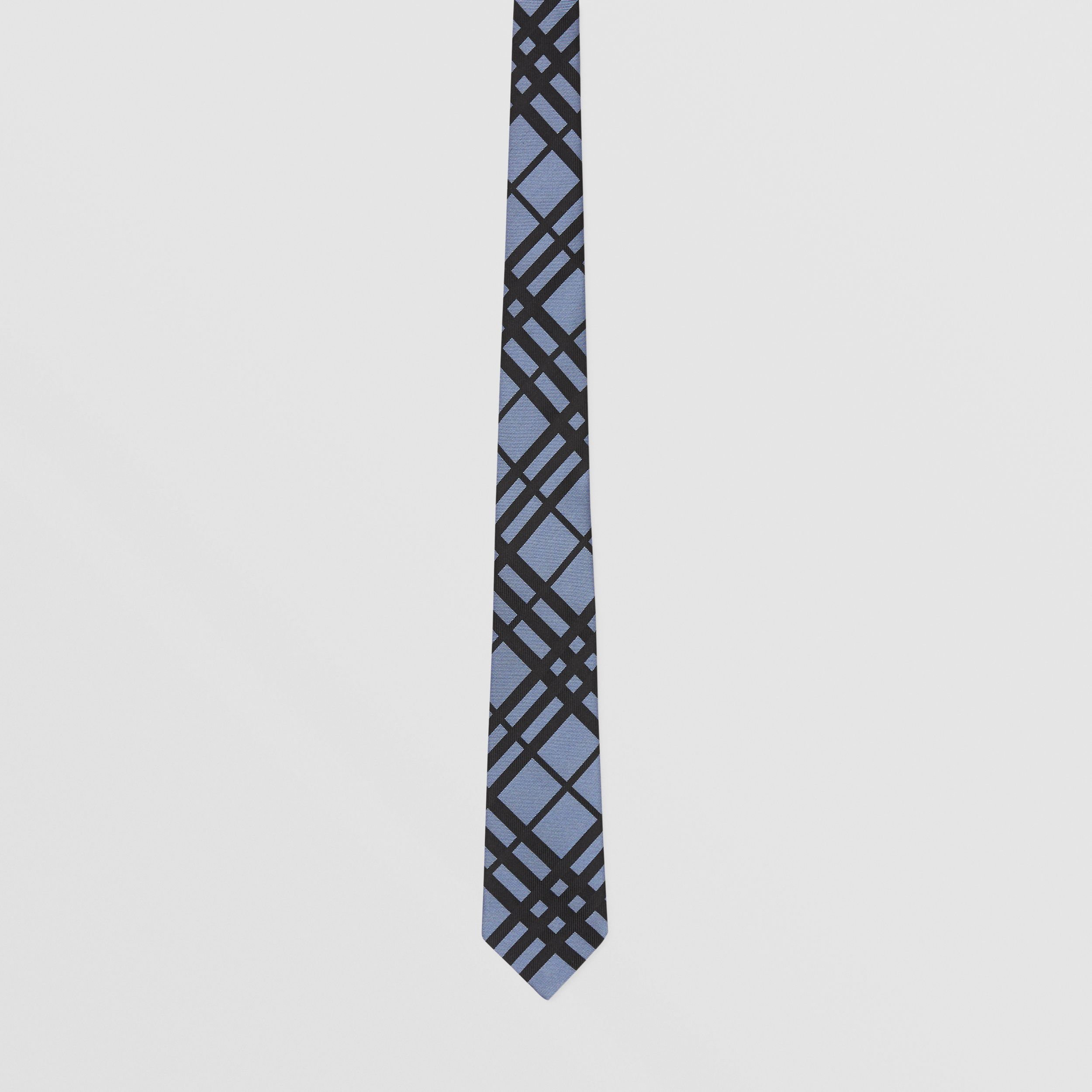 Classic Cut Check Silk Jacquard Tie in Chalk Blue - Men | Burberry - 4