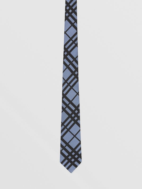 Classic Cut Check Silk Jacquard Tie in Chalk Blue - Men   Burberry - cell image 3