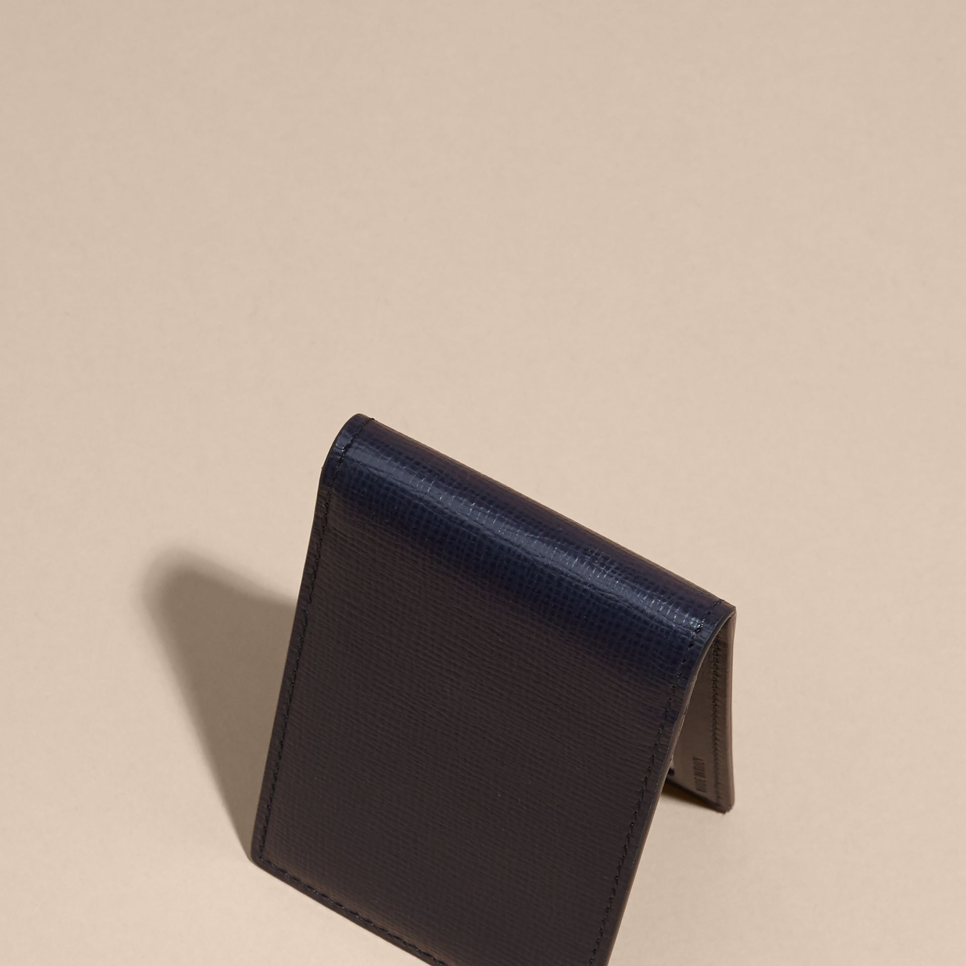 London Leather ID Wallet in Dark Navy - gallery image 4