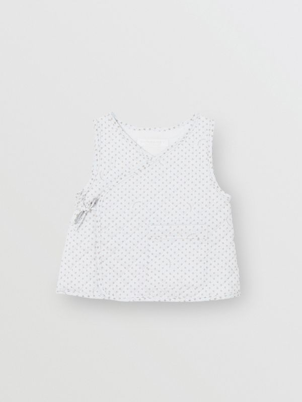 Polka Dot Cotton Three-piece Baby Gift Set in Natural White - Children | Burberry - cell image 2