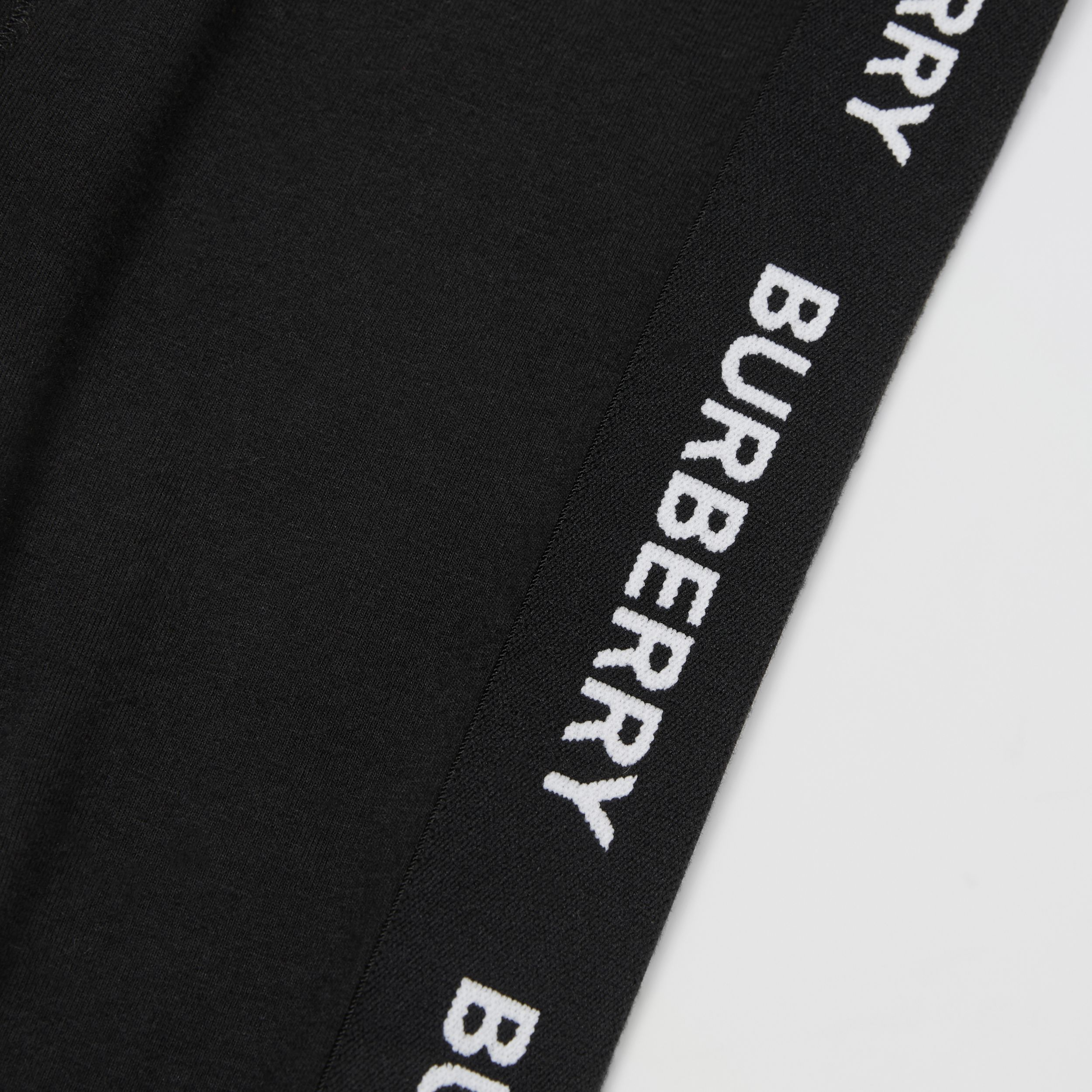 Logo Detail Stretch Cotton Jersey Leggings in Black - Children | Burberry Hong Kong S.A.R. - 2
