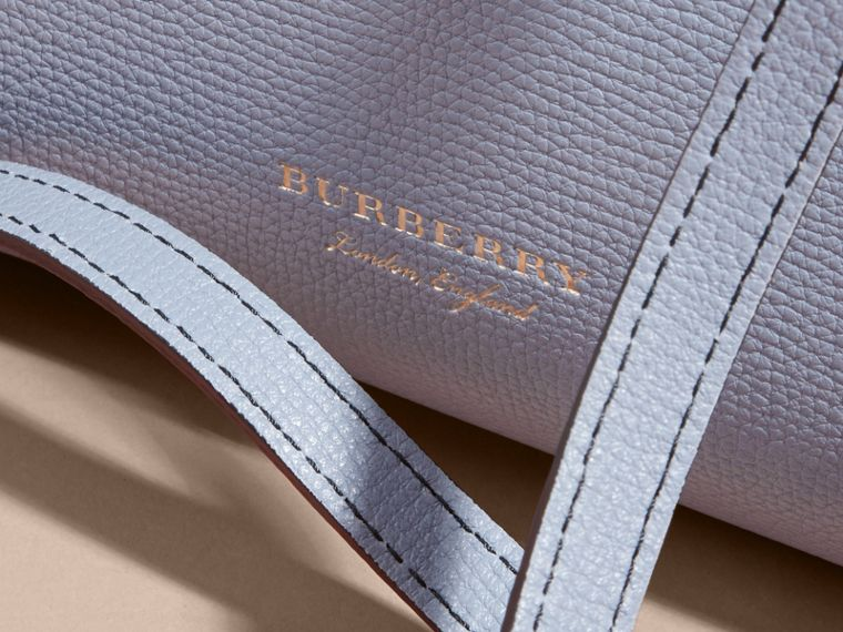 The Medium Banner in Leather and House Check Slate Blue - cell image 1