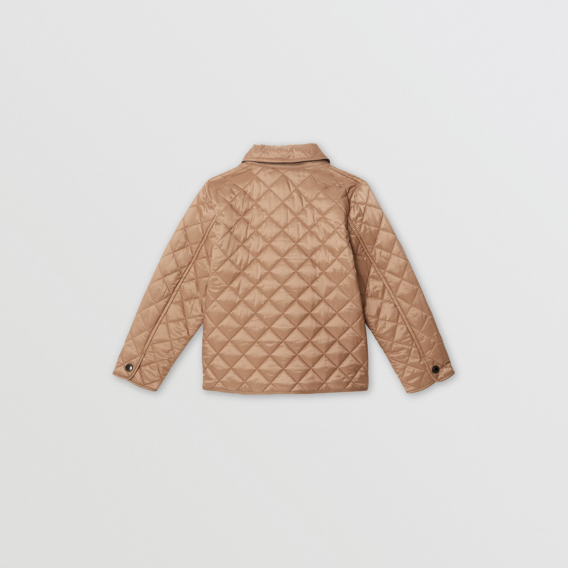 Lightweight Diamond Quilted Jacket in Camel | Burberry Australia - gallery image 3