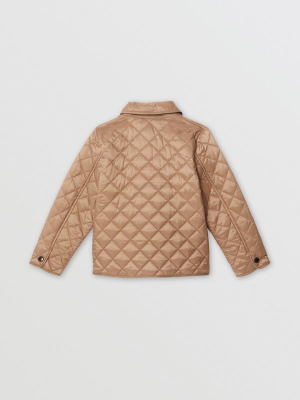 Lightweight Diamond Quilted Jacket in Camel | Burberry - cell image 3