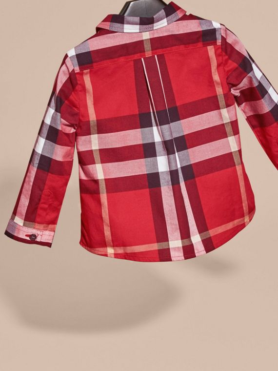 Check Cotton Shirt Parade Red - cell image 3