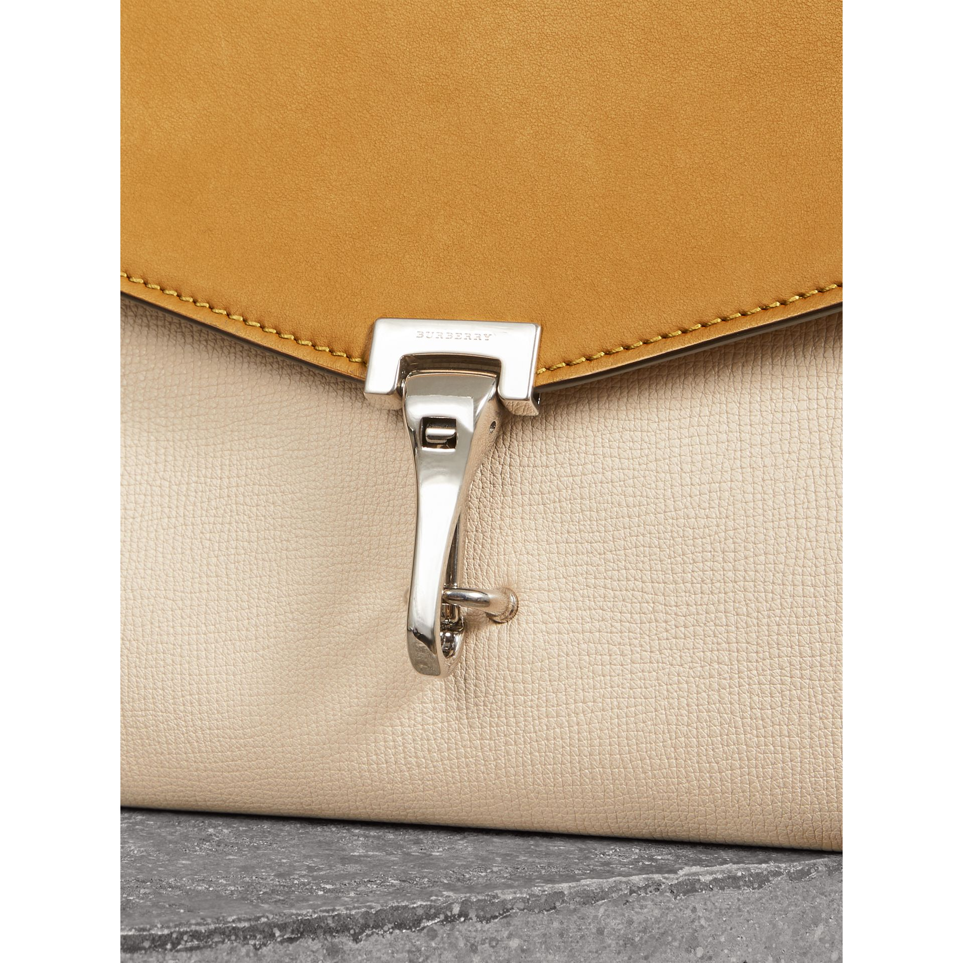 Two-tone Leather Crossbody Bag in Limestone/cornflower Yellow - Women | Burberry Australia - gallery image 1