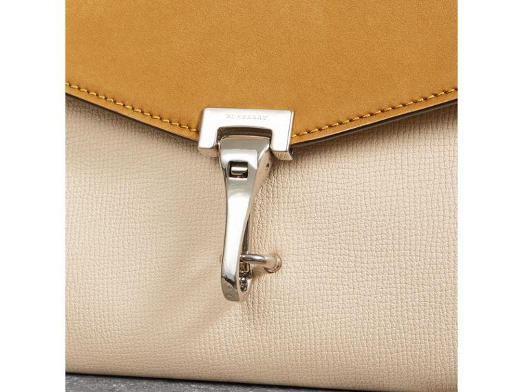 Two-tone Leather Crossbody Bag in Limestone/cornflower Yellow - Women | Burberry Australia - cell image 1