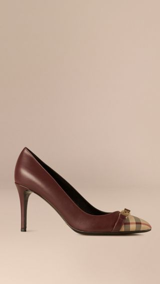 Horseferry Check Leather Pumps