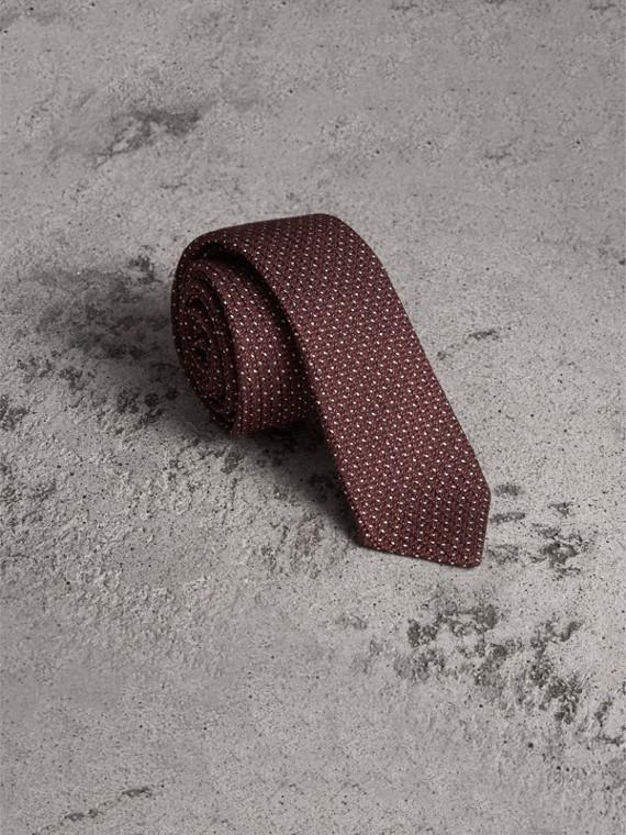 Schmal geschnittene Krawatte aus Wolle und Seide (Zimtfarben)