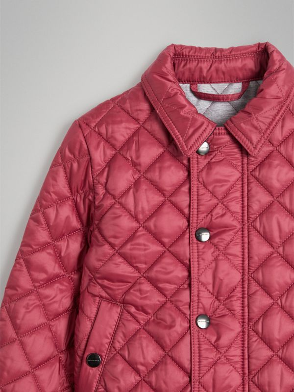 Lightweight Diamond Quilted Jacket in Peony Rose | Burberry - cell image 2