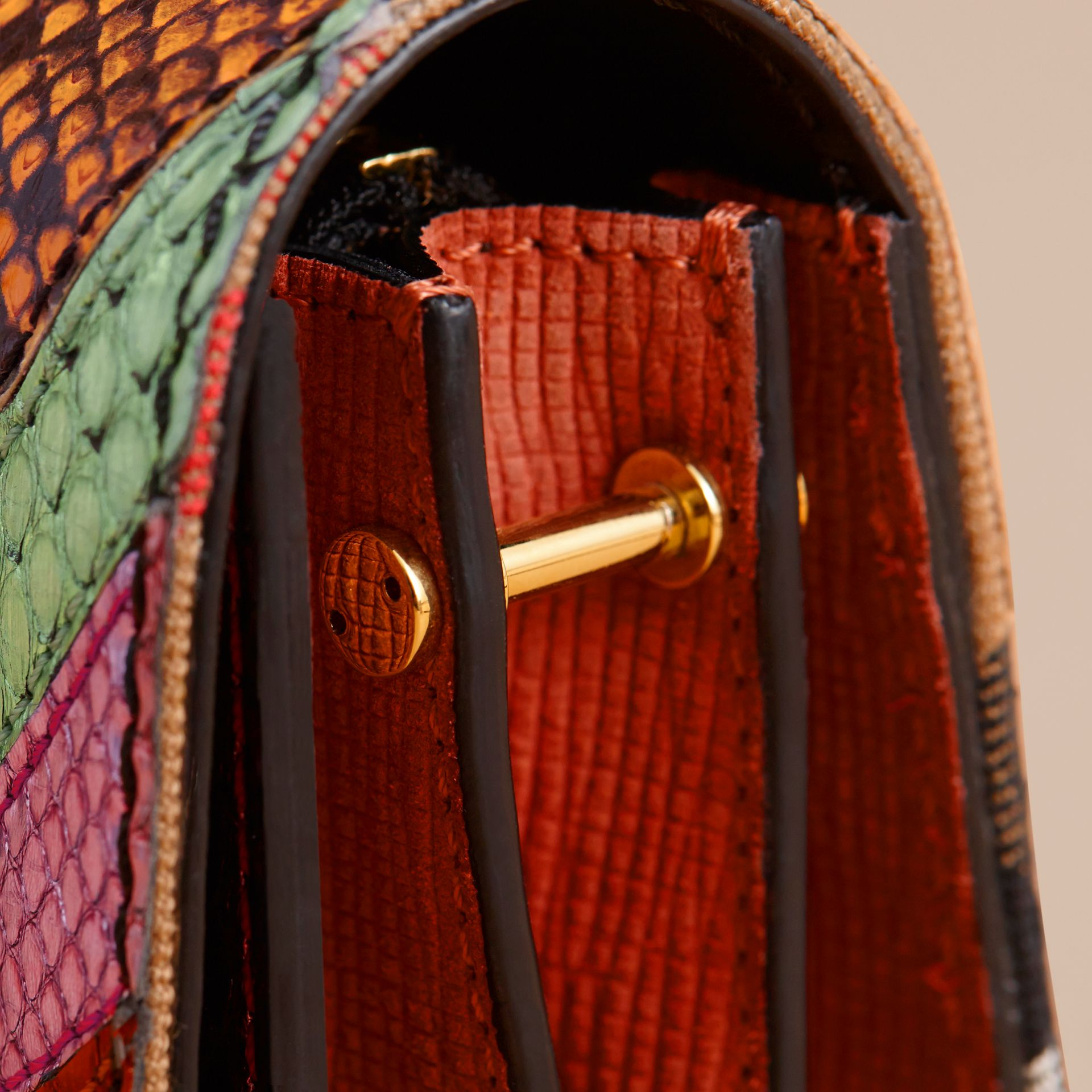 The Small Buckle Bag in House Check and Snakeskin - gallery image 7