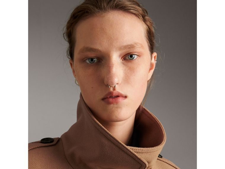 Technical Wool Cashmere Funnel Neck Coat in Camel - Women | Burberry United States - cell image 1