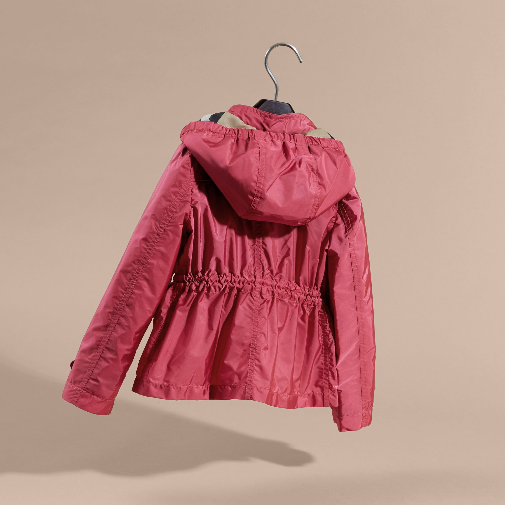 Hooded Packaway Technical Jacket Pink Azalea - gallery image 4