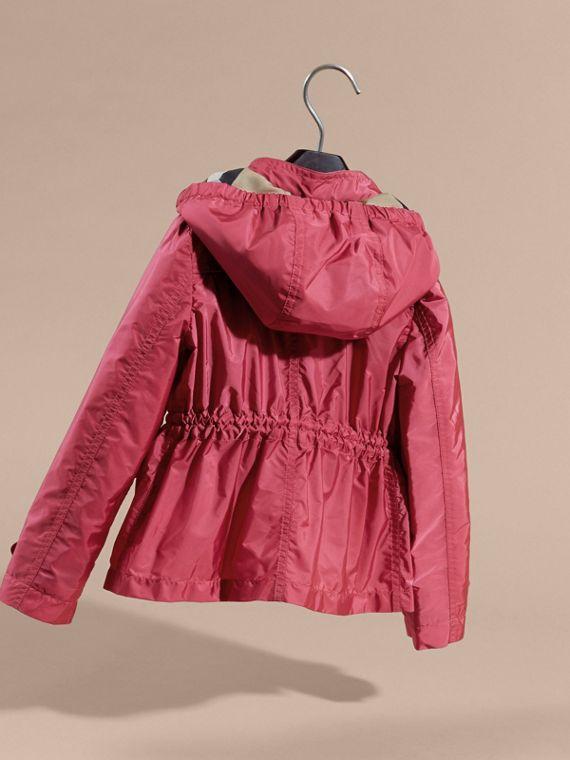 Hooded Packaway Technical Jacket Pink Azalea - cell image 3