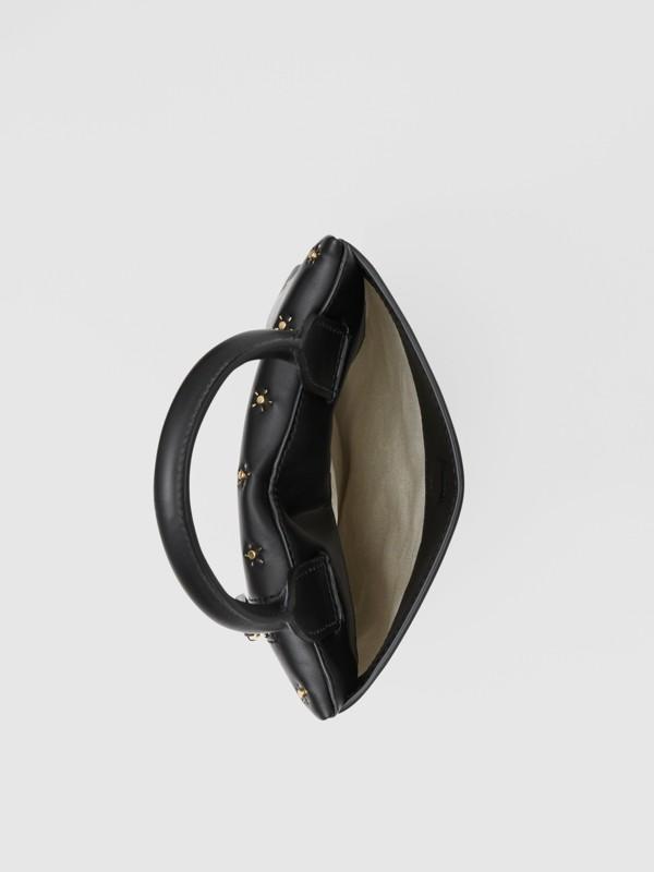 按扣皮革直式收納包 (黑色) - 男款 | Burberry - cell image 3