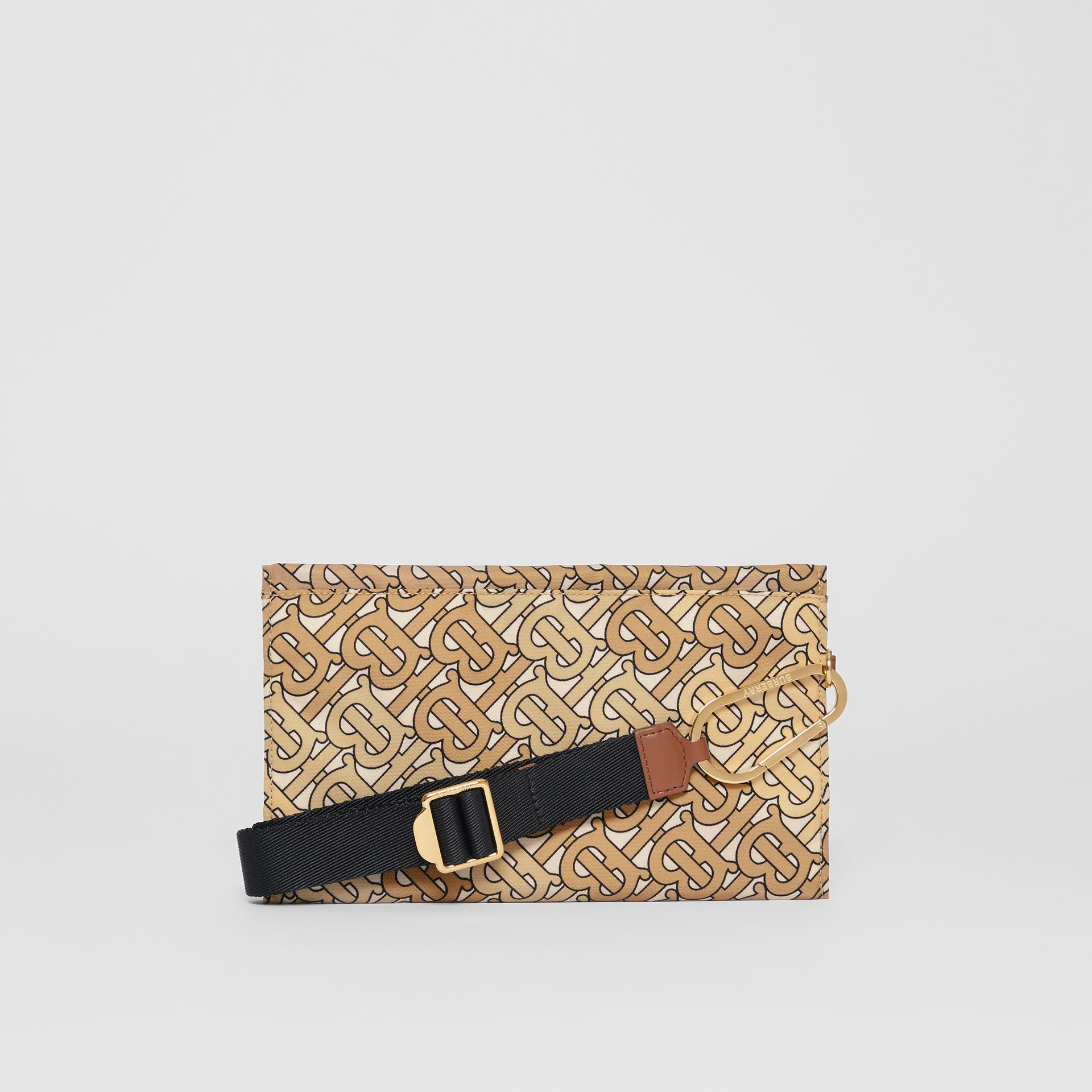 Monogram Print Nylon Zip Pouch in Beige - Women | Burberry - gallery image 7