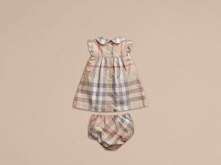 Pale classic check Washed Check Cotton Dress - cell image 2