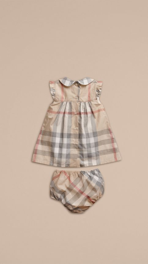 Pale classic check Washed Check Cotton Dress - Image 3