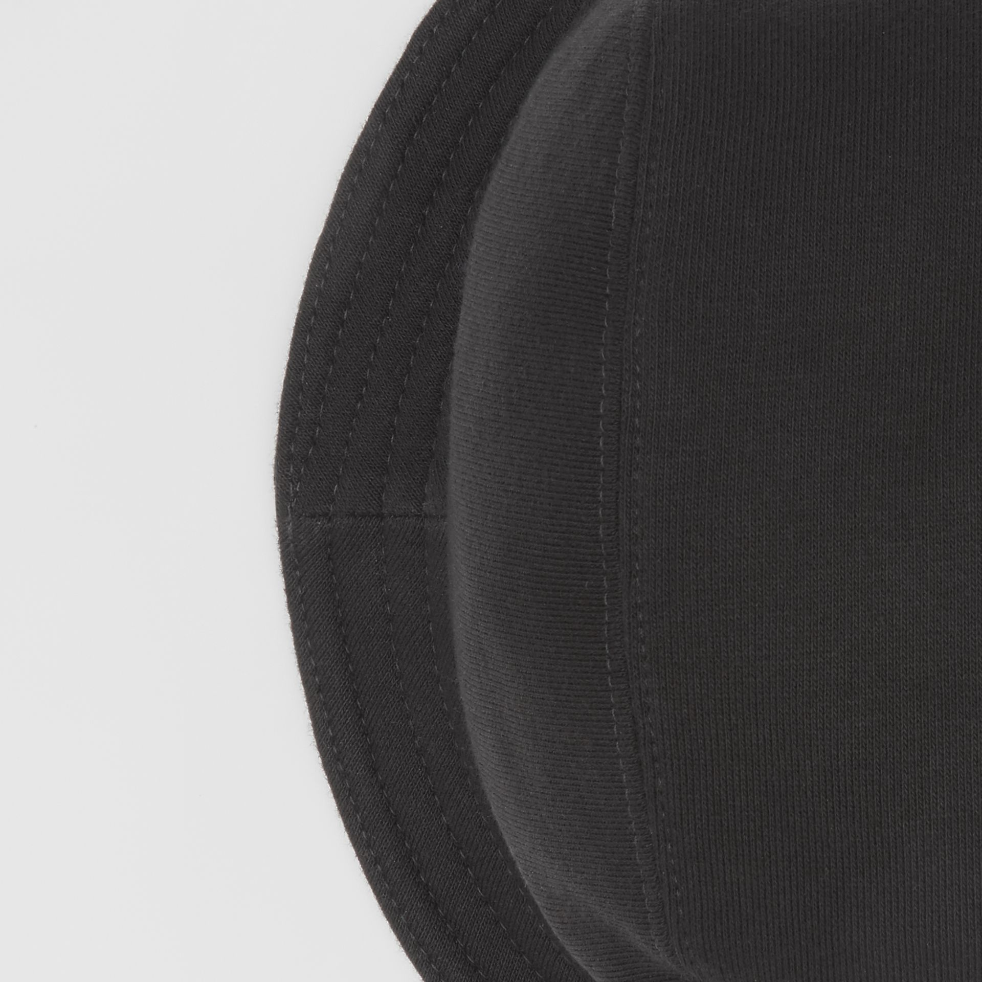 Logo Detail Bucket Hat in Black | Burberry United Kingdom - gallery image 1