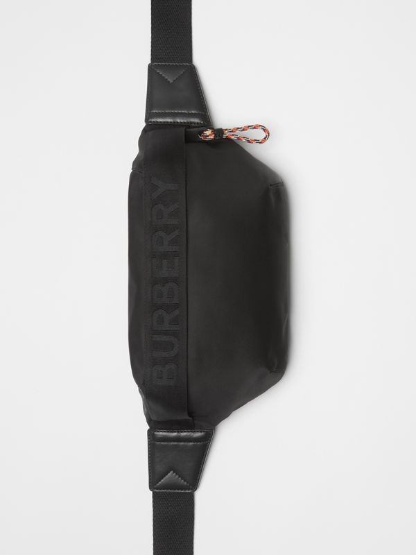 Medium Logo Detail Bum Bag in Black | Burberry Australia - cell image 3