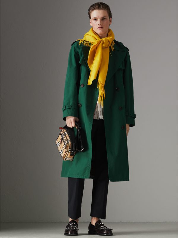 The Burberry Bandana in Embroidered Cashmere in Gorse Yellow | Burberry Hong Kong - cell image 2