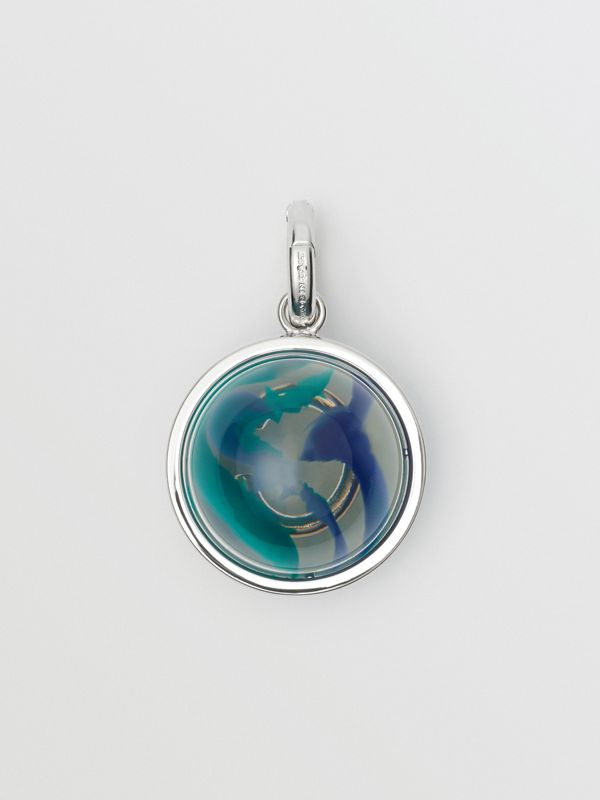 Marbled Resin 'C' Alphabet Charm in Palladio/ocean Blue - Women | Burberry Hong Kong - cell image 3